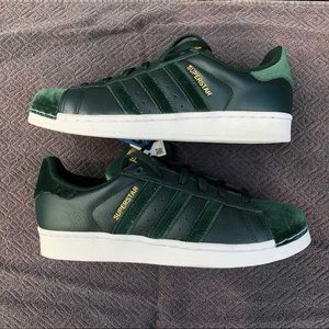 Adidas Superstar Green Suede & Leather